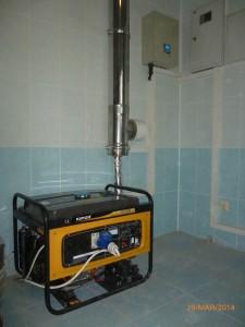 Монтаж генератора и АВР в помещении