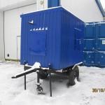 Контейнер для генератора на шасси