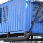 Контейнер для генератора на базе морского контейнера